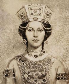 Empress Eudokia Makrembolitissa, wife of Constantine X and later of Romanos IV