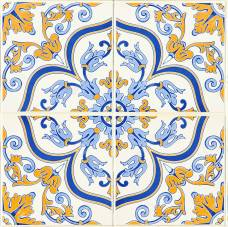 Azulejos with hints of yellow