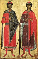 Boris and Gleb, sons of Vladimir I and Anna