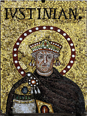 Mosaic of the old Justinian I