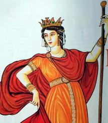 Empress Irene of Athens (r. 797-802), wife of Leo IV