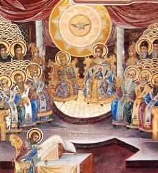 Constantine VI his mother Irene at the 2nd Council of Nicaea, 787