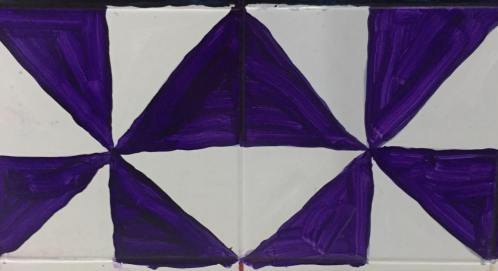Purple and white right triangle patterns