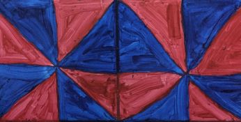 Red and blue right triangle patterns