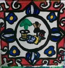 Tile of the fashion course