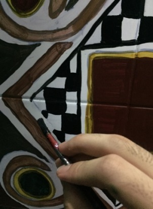 The process of painting