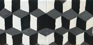 Black, gray, and white quadrilateral tessellations