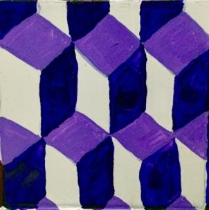 Purple, lavender, and white quadrilateral tessellations