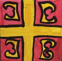 Tetra-grammatic cross, national flag of Byzantium