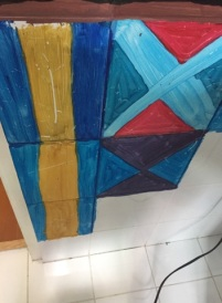 Remains of the 2012 tile art