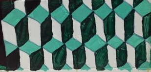 Dark green, light green, and white quadrilateral tessellations