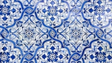 Blue and white Azulejos