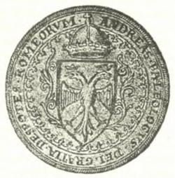 Seal of Demetrios II Palaiologos, last Despot of Morea (1449-1460)