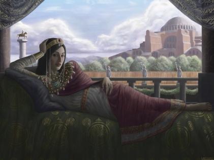 Theophano, Byzantine empress, wife of Romanos II then of Nikephoros II, exiled to Princes' Islands