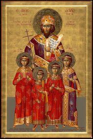 David Megas Komnenos (behind), last Emperor of Trebizond (r. 1460-1461)