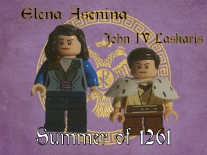 Elena Asenina of Bulgaria and her son John IV Laskaris