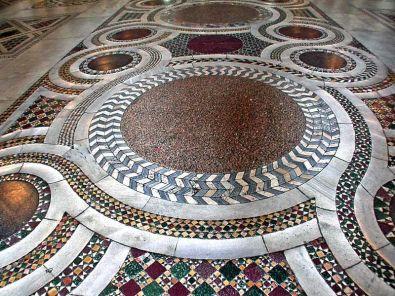 Marble floor of Sta. Prassede, Rome