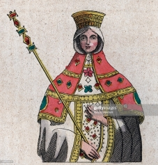 Empress Eudokia Ingerina, wife of Basil I and lover of Michael III, of Germanic and Heraclian Dynasty descent