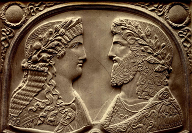 Julian and his wife Helena, daughter of Constantine I