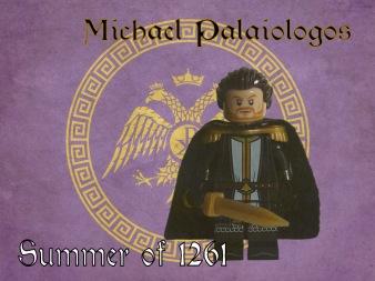 Lego poster of Michael VIII Palaiologos