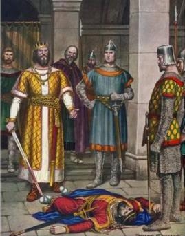 Theodoric kills Odoacer in Ravenna, 493