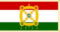 Presidential flag of Tajikistan with the Derafsh Kaviani