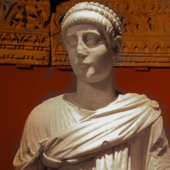 Emperor Valentinian II, son of Valentinian I (r. 383-392)