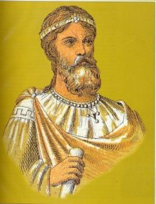 Emperor Basil I the Macedonian (r. 867-886), founder of the Macedonian Dynasty