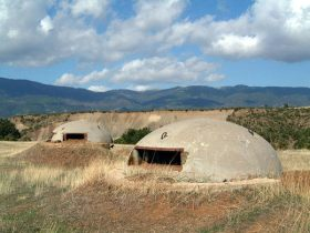 Bunkers at the Albanian countryside