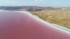 Lake Tuz when pink, near Cappadocia