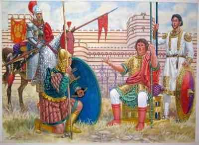 Tagmata army units outside Constantinople