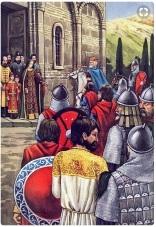 Basil II enters Ohrid, capital of the 1st Bulgarian Empire, 1018