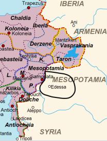 Location of Edessa in Asia Minor