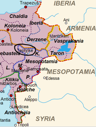 Location of the Theme of Tephrike