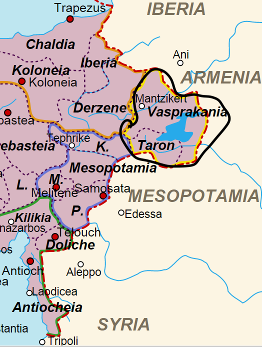 Location of the Theme of Vaspurakan