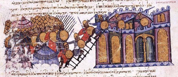 Byzantine siege of Melitene, 934 in the Madrid Skylitzes