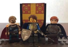 Latin Leaders of the 4th Crusade in Lego: Baldwin of Flanders, Louis de Blois, and Hendrik of Flanders