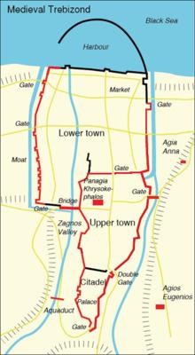 Map of Byzantine era Trebizond