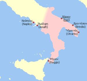 Byzantine Catepanate of Bari (Southern Italy)