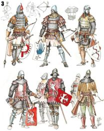 Medieval Serbian army, mix of western and Byzantine uniforms