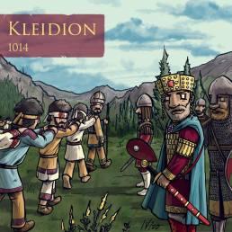 Basil II blinds Bulgarian captives after winning the Battle of Kleidion, 1014