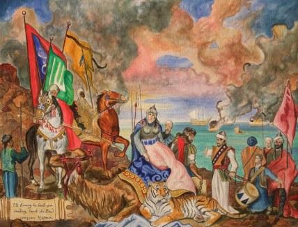 Moors (Umayyad Caliphate) invade Spain