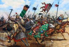 Mongol Golden Horde horsemen