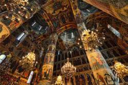 Byzantine style frescos in St. Basil's