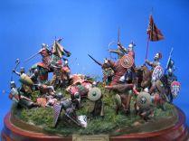 Figures reenacting the Battle of Pelagonia, 1259