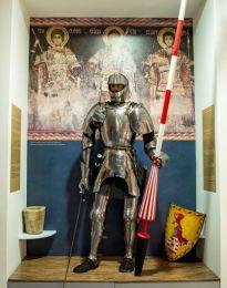 Medieval Serbian knight in western armor