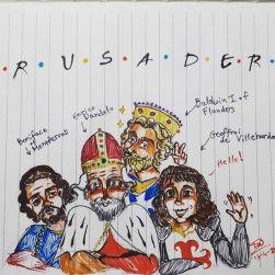 Leaders of the 4th Crusade cartoon