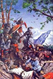 Byzantines beat the Bulgarians at Kleidion, 1014