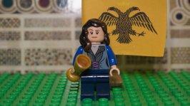 Lego figure of Elena Asenina of Bulgaria, daughter of Ivan II and wife of Theodore II