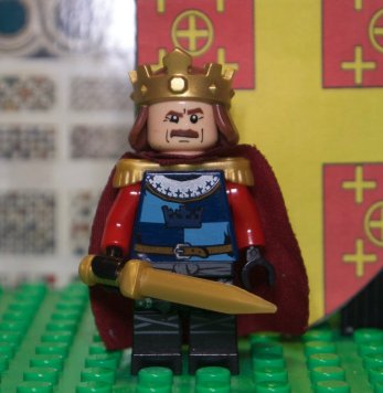 Lego figure of Latin Emperor Baldwin II Courtenay (r. 1228-1261)